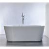 """67.3"""" White Acrylic Tub - No Faucet, White"""