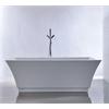 """67"""" White Acrylic Tub - No Faucet, White"""