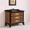 "Legion furniture 44"" Solid Wood Sink Vanity With Granite-No Faucet, Light Brown"