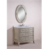 "41"" Solid Wood Sink Vanity With Marble Top-No Faucet, Antique Grey"