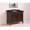 "Legion furniture 47"" Solid Wood Sink Vanity With Granite Top-No Faucet, Walnut"