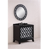 """Legion furniture 38"""" Solid Wood Sink Vanity With Granite Top-No Faucet And Backplash, Black"""