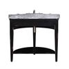 "Legion furniture 41"" Solid Wood Sink Vanity With Granite Top-No Faucet And Backsplash, Antique Espresso"