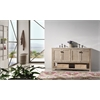 """Legion furniture 60"""" Solid Wood Sink Vanity With Marble Top-No Faucet, White Wash"""