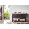 "Legion furniture 60"" Wood Sink Vanity With Marble Top-No Faucet, Antique Brown"