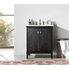 "Legion furniture 30"" Black Color Solid Wood Sink Vanity With Marble Top-No Faucet, Antique Black"