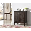 "Legion furniture 30"" Brown Color Solid Wood Sink Vanity With Marble Top-No Faucet, Antique Brown"