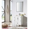 "Legion furniture 24"" White Color Wood Sink Vanity With Ceramic Top-No Faucet, Matt White"