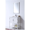 """Legion furniture 30"""" White Color Wood Sink Vanity With Ceramic Top-No Faucet, Matt White"""