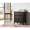 """Legion furniture 30"""" Brown Color Solid Wood Sink Vanity With Marble Top-No Faucet, Brown"""