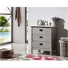 """30"""" Gray Color Solid Wood Sink Vanity With Marble Top-No Faucet, Gray"""