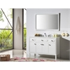 """Legion furniture 48"""" Wood Sink Vanity With Artificial Stone Top-No Faucet, White"""