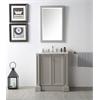 "30"" Sink Vanity With Quartz Top-No Faucet, Warm Grey"