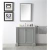 "Legion furniture 36"" Sink Vanity With Quartz Top-No Faucet, Cool Grey"