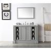 "Legion furniture 48"" Sink Vanity With Quartz Top-No Faucet, Cool Grey"