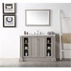 "48"" Sink Vanity With Quartz Top-No Faucet, Warm Grey"