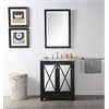 "30"" Sink Vanity With Quartz Top-No Faucet, Espresso"