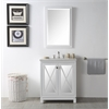 "Legion furniture 30"" Sink Vanity With Quartz Top-No Faucet, White"