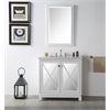 "Legion furniture 36"" Sink Vanity With Quartz Top-No Faucet, White"