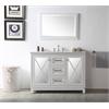 "48"" Sink Vanity With Quartz Top-No Faucet, White"