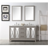 "60"" Sink Vanity With Quartz Top-No Faucet, Warm Grey"