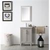 "Legion furniture 24"" Sink Vanity With Ceramic Top-No Faucet, Warm Grey"