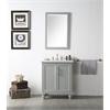 "Legion furniture 30"" Sink Vanity With Quartz Top-No Faucet, Cool Grey"