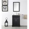 """24"""" Sink Vanity With Ceramic Top-No Faucet, Espresso"""