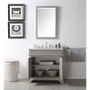 "36"" Sink Vanity With Quartz Top-No Faucet, Warm Grey"