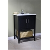 "Legion furniture 24"" Sink Vanity With Basket Without Faucet, Espresso"