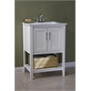 "24"" Sink Vanity With Basket Without Faucet, White"