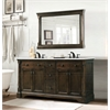 "Legion furniture 60"" Antique Coffee Sink Vanity With Carrara White Top And Matching Backsplash Without Faucet, Antique Coffee"