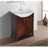 "Legion furniture 24"" Royal Walnut Sink Vanity, No Faucet, Royal Walnut"