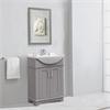 "24"" Gray Sink Vanity, No Faucet, Gray"