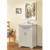 """Legion furniture 24"""" White Sink Vanity, No Faucet, Matt White"""
