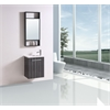 Legion furniture Sink Vanity With Mirror - No Faucet, Black And White Stripes