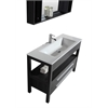 Legion furniture Sink Vanity With Mirror - No Faucet, Black And Gray Stripes