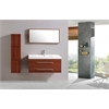 Sink Vanity With Mirror And Side Cabinet - No Faucet, Cinnamon Brown