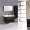 Legion furniture Sink Vanity With Mirror And Side Cabinet - No Faucet, Espresso