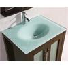Legion furniture Sink Vanity With Mirror - No Faucet, Dark Chocolate