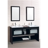 Sink Vanity With Mirror, Espresso