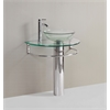 Legion furniture Sink Vanity Without Mirror And Faucet, Clear, Chrome