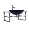 Sink Vanity Without Mirror And Faucet, Black
