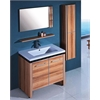 Sink Vanity With Mirror And Side Cabinet - No Faucet, Light Maple