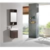 Sink Vanity With Mirror - No Faucet, Walnut