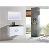 Legion furniture Sink Vanity With Mirror - No Faucet, White
