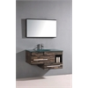 Legion furniture Sink Vanity With Mirror - No Faucet, Black Wood Pattern