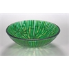 "Tempered Glass 1/2"" Thick, 16.5"" Diameter, 5.5"" Height Matching Chrome Pop-Up Drain And Mounting Ring, Bamboo-Inspired"