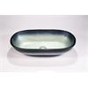 Legion furniture Glass Sink Bowl, Steel Gray