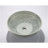 Legion furniture Porcelain Sink Bowl, Light Green Flower, Off White